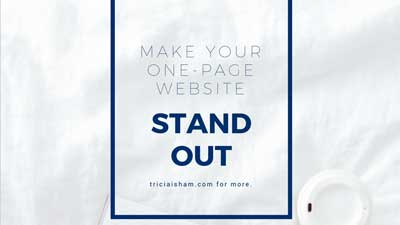 Make your One Page Website Stand Out