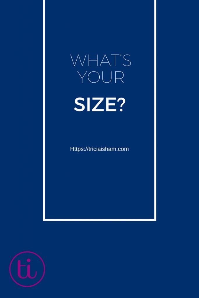 What's Your (website) size image for https://triciaisham.com