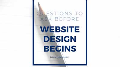 The First Questions for Website Design