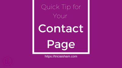 Quick Tips for Your Contact Section