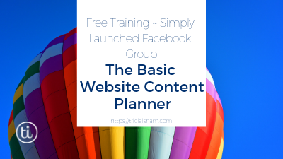 Planning Your Website ~ The Basic Content Planner