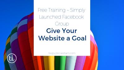 Planning Your Website ~ Website Goals