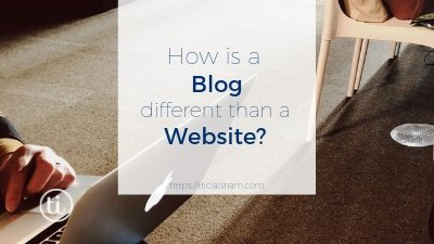 How is a Blog Different than a Website? Or is it?