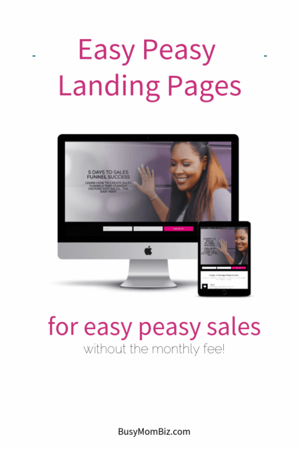 Landing Pages promo image ~ Easy peasy landing pages for easy peasy sales