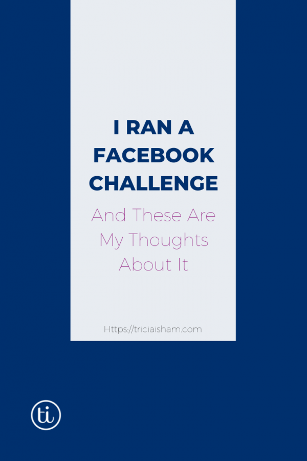Facebook Challenge thoughts post image