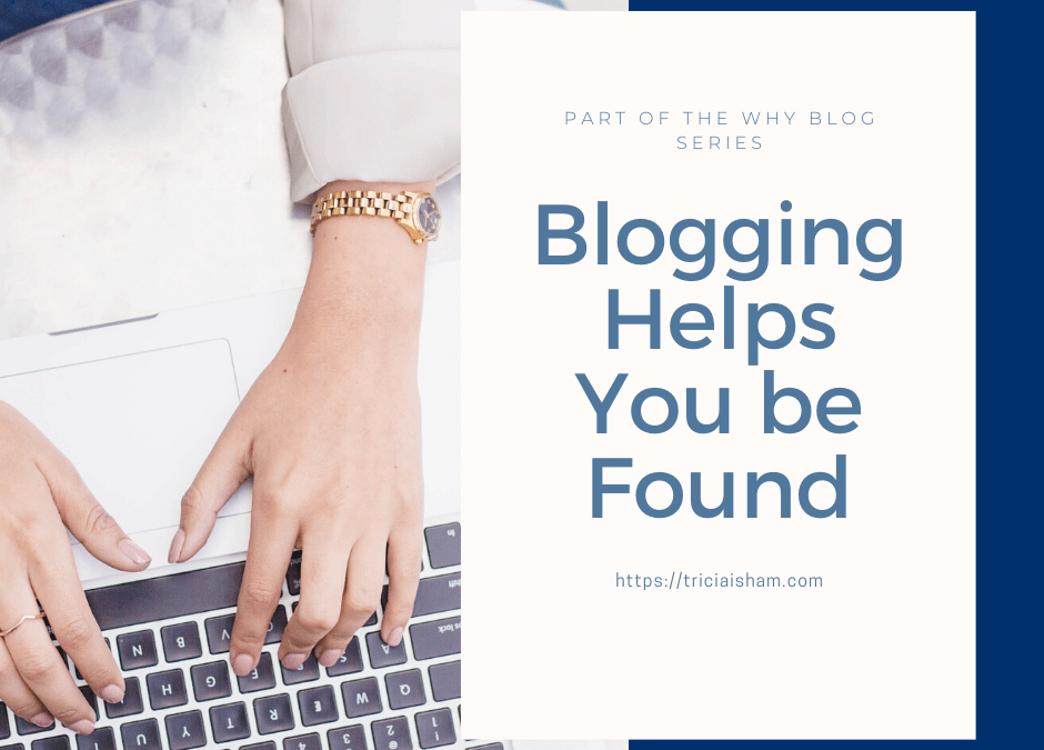 Blogging Helps You Be Found