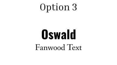 font pairing option 3