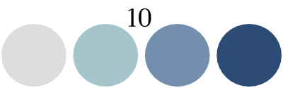 color set 10:light gray, 3 shades of blue