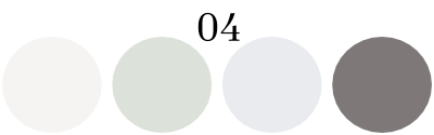 color set 4: off white, pale green, pale violet, gray