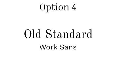 font pairing option 4