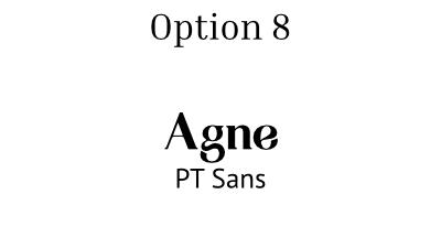 font pair option 8 agne and pt sans