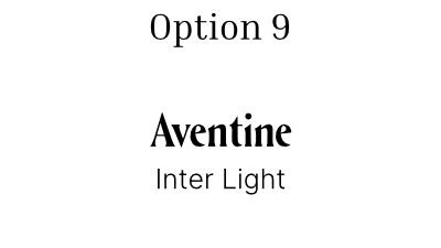 font pair option 9